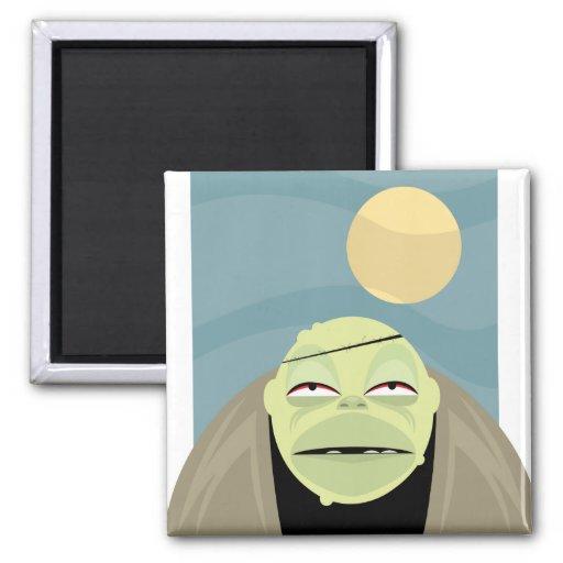 Full Moon Frankenstein Monster 2 Inch Square Magnet
