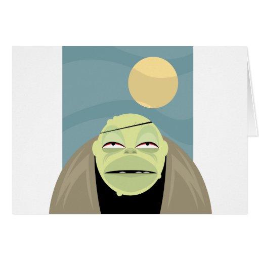 Full Moon Frankenstein Monster Greeting Card