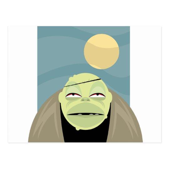Full Moon Frankenstein Monster Postcard