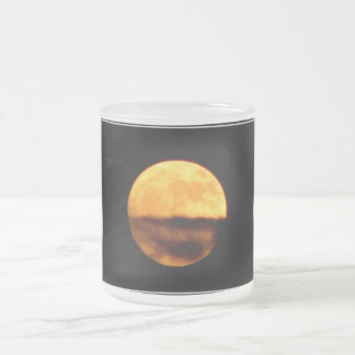 Full Moon Frosted Glass Coffee Mug