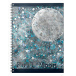 Full moon galaxy and stars note books