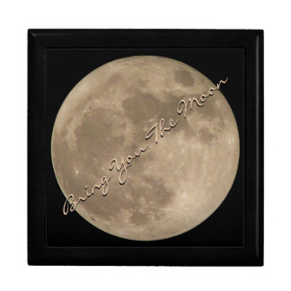 Full Moon Gift Box Custom Moon Jewelry Box Gifts