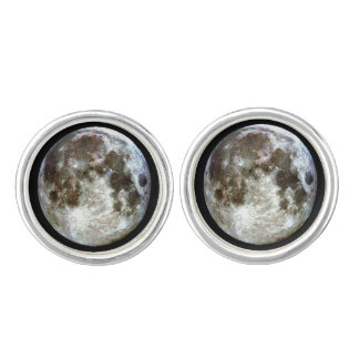 Full Moon Gold Cufflinks