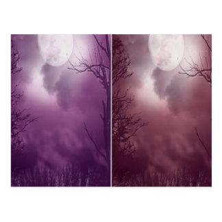 Full Moon Goth School Halloween Party Card Post Card