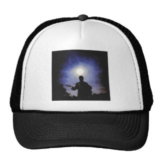 Full Moon & Guitar Silhouette Hats