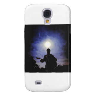 Full Moon & Guitar Silhouette Samsung Galaxy S4 Case