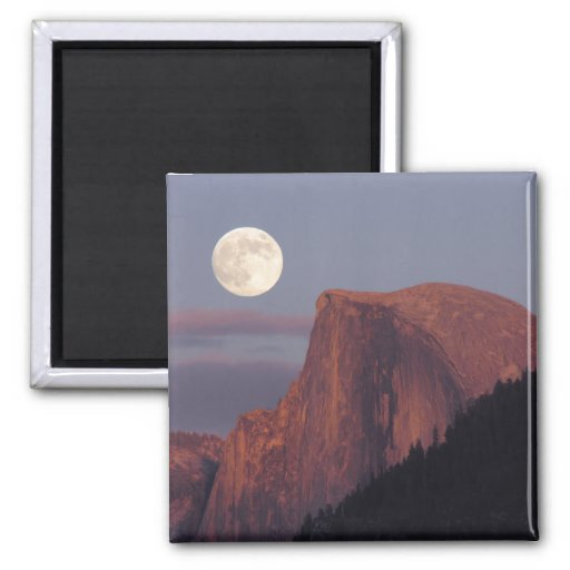 Full Moon Half Dome Magnet