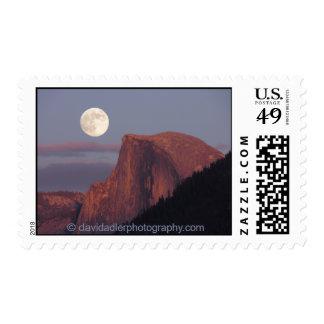 Full Moon Half Dome Postage Stamp