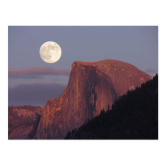 Full Moon Half Dome Postcard