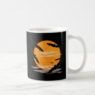Full Moon Halloween Bats Coffee Mug