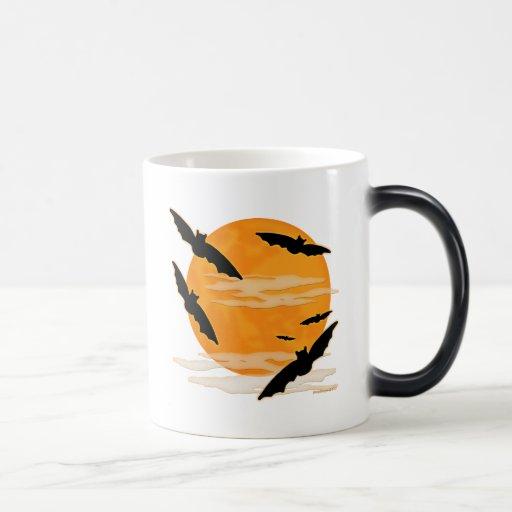 Full Moon Halloween Bats 11 Oz Magic Heat Color-Changing Coffee Mug