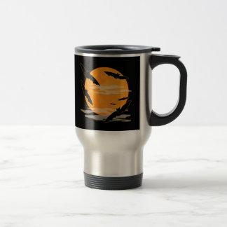 Full Moon Halloween Bats Travel Mug