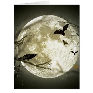 Full Moon Halloween Card