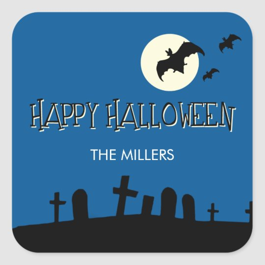 Full Moon Halloween Gift Tag Stickers