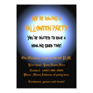 Full Moon Halloween Party Card