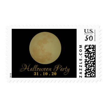 Halloween Themed Full Moon, Halloween Party Postage