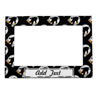 Full Moon Halloween Squatchin Picture Frame Magnet