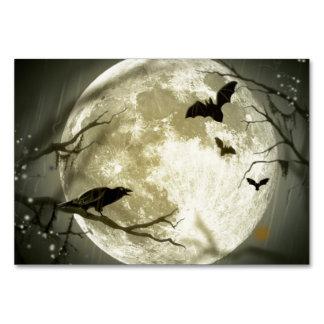 Full Moon Halloween Table Cards