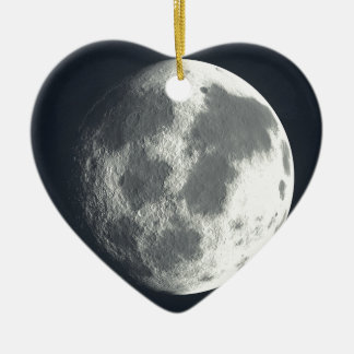 Full Moon Image Ceramic Ornament