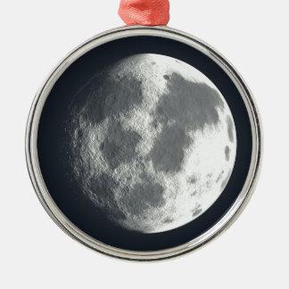 Full Moon Image Metal Ornament