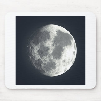 Full Moon Image Mouse Pad