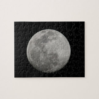 Full moon in black and white. Credit as: Arthur Jigsaw Puzzle