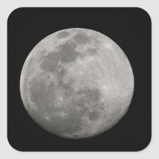 Full moon in black and white. Credit as: Arthur Square Sticker