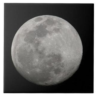 Full moon in black and white. Credit as: Arthur Ceramic Tile