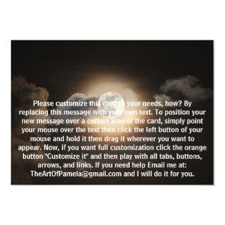 Full Moon in Cloudy Night Card