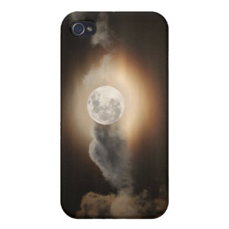 Full Moon in Cloudy Night iPhone 4 Covers