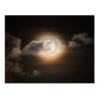 Full Moon in Cloudy Night Postcard