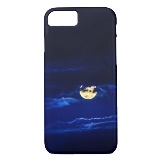 Full Moon in Midnight Blue iPhone 7 Case