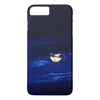 Full Moon in Midnight Blue iPhone 7 Plus Case