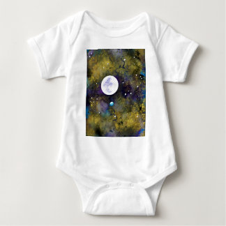 full moon in outer space baby bodysuit