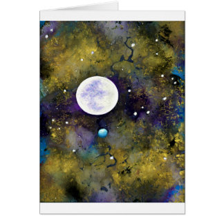 full moon in outer space card
