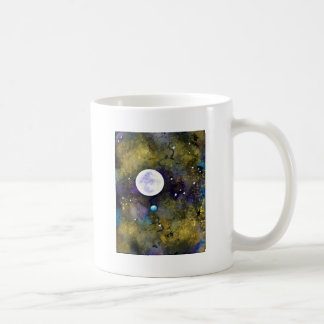 full moon in outer space classic white coffee mug