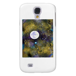 full moon in outer space galaxy s4 case