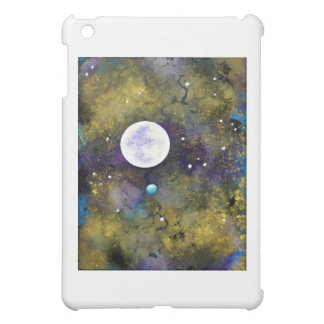 full moon in outer space iPad mini cases