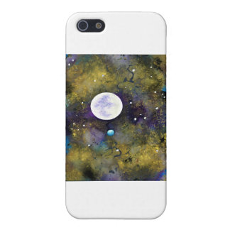 full moon in outer space iPhone 5 cases