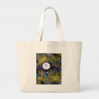 full moon in outer space jumbo tote bag