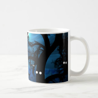 Full Moon in The Midnight Forest Coffee Mug