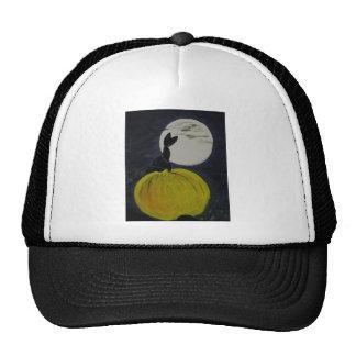Full moon in the pumpkin patch trucker hat