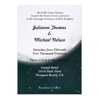 Full Moon Personalized Invitation
