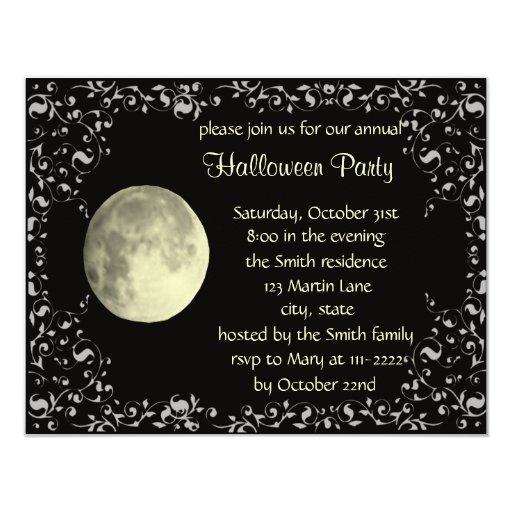 full moon invitation card template