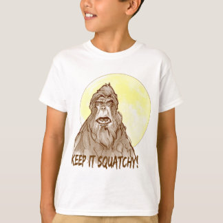Full Moon KEEP IT SQUATCHY - Bigfoot Researcher's T-Shirt