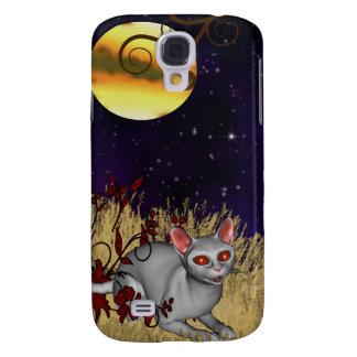 Full Moon Kitty Galaxy S4 Cover