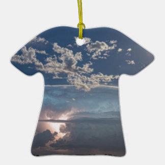 Full Moon Lake Storm.jpg Double-Sided T-Shirt Ceramic Christmas Ornament