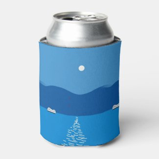 Full Moon Landscape Can Cooler