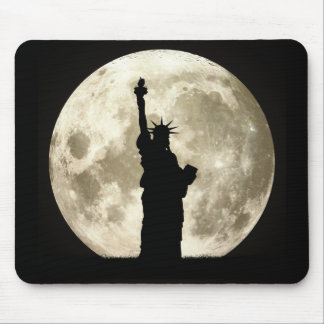 Full Moon Liberty Silhouette Mouse Pad