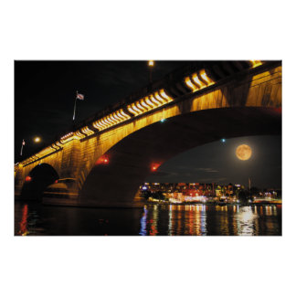 Full Moon London Bridge Poster